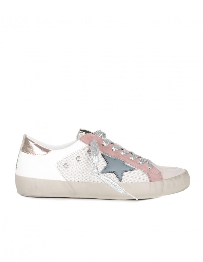 Zapatillas Estrella Cordones Plateados