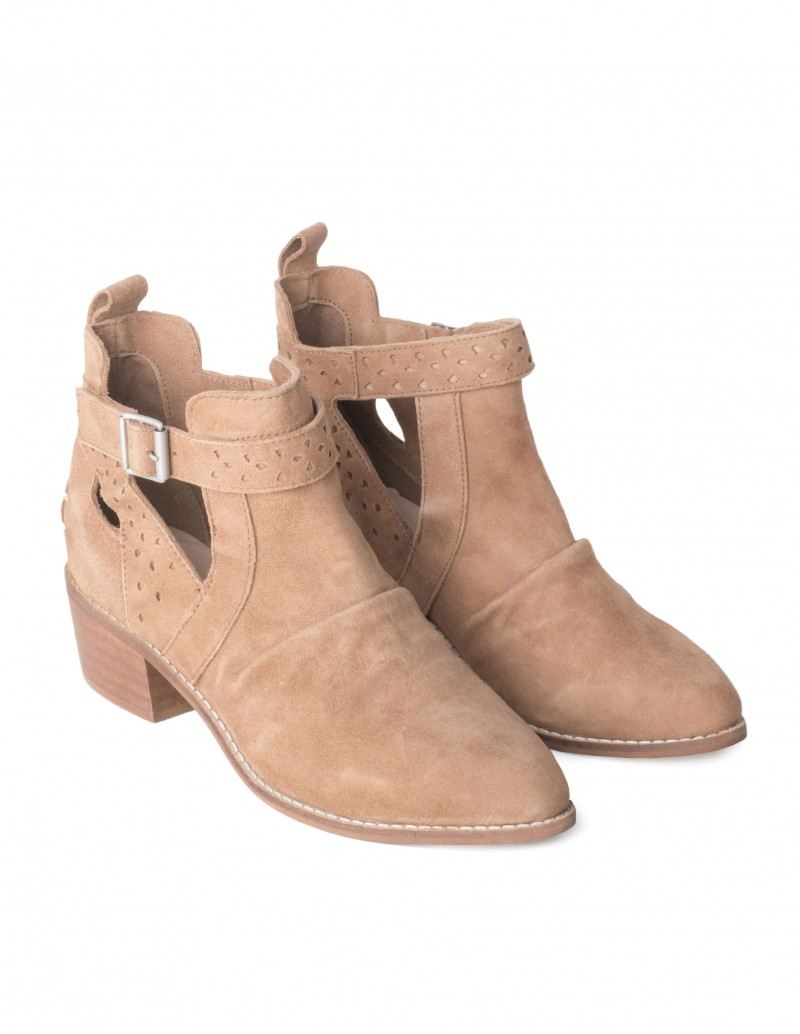 Camperas cut-out mujer camel