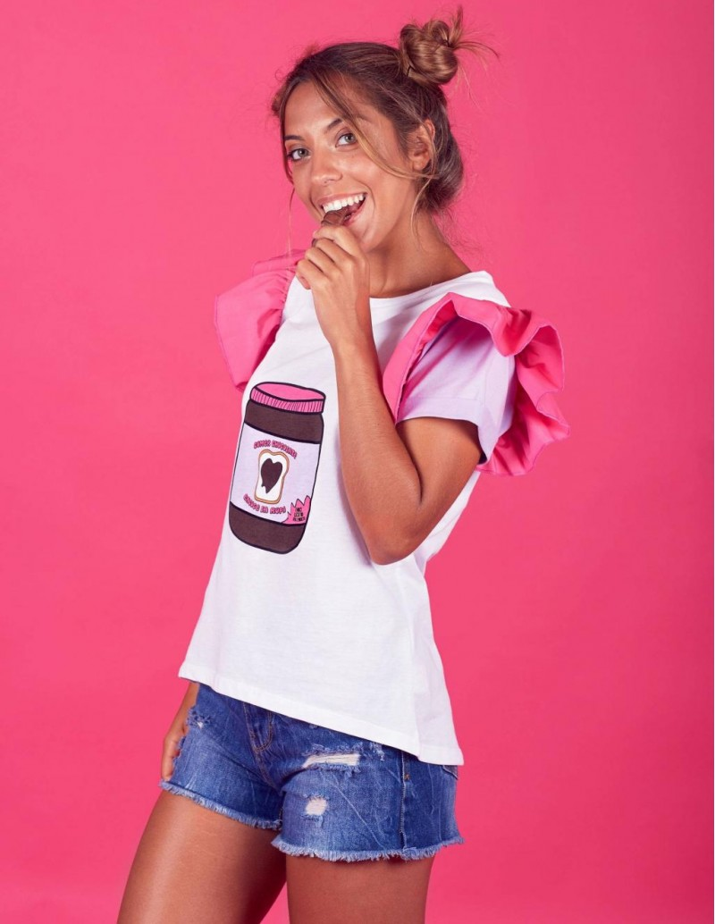 Camiseta Mama e Hija Mensaje Chocolate PERA LIMONERA