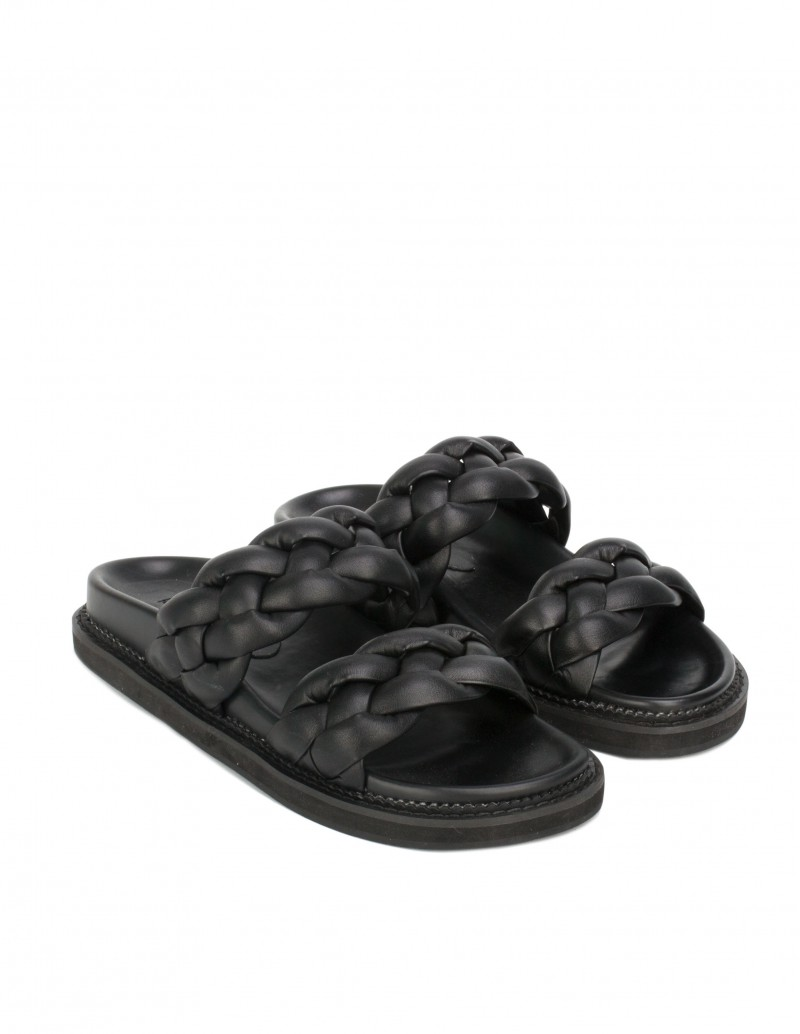 Sandalias Trenzadas Negras