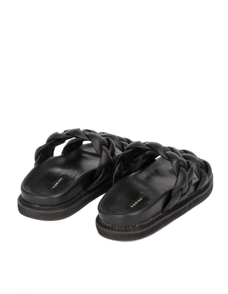Sandalias Trenzadas Mujer Negras