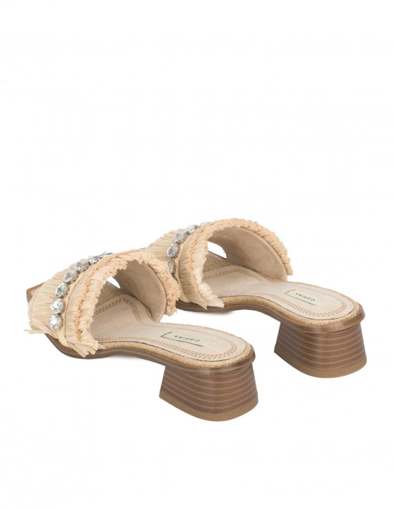 Sandalias Pala Tacón Cuadrado