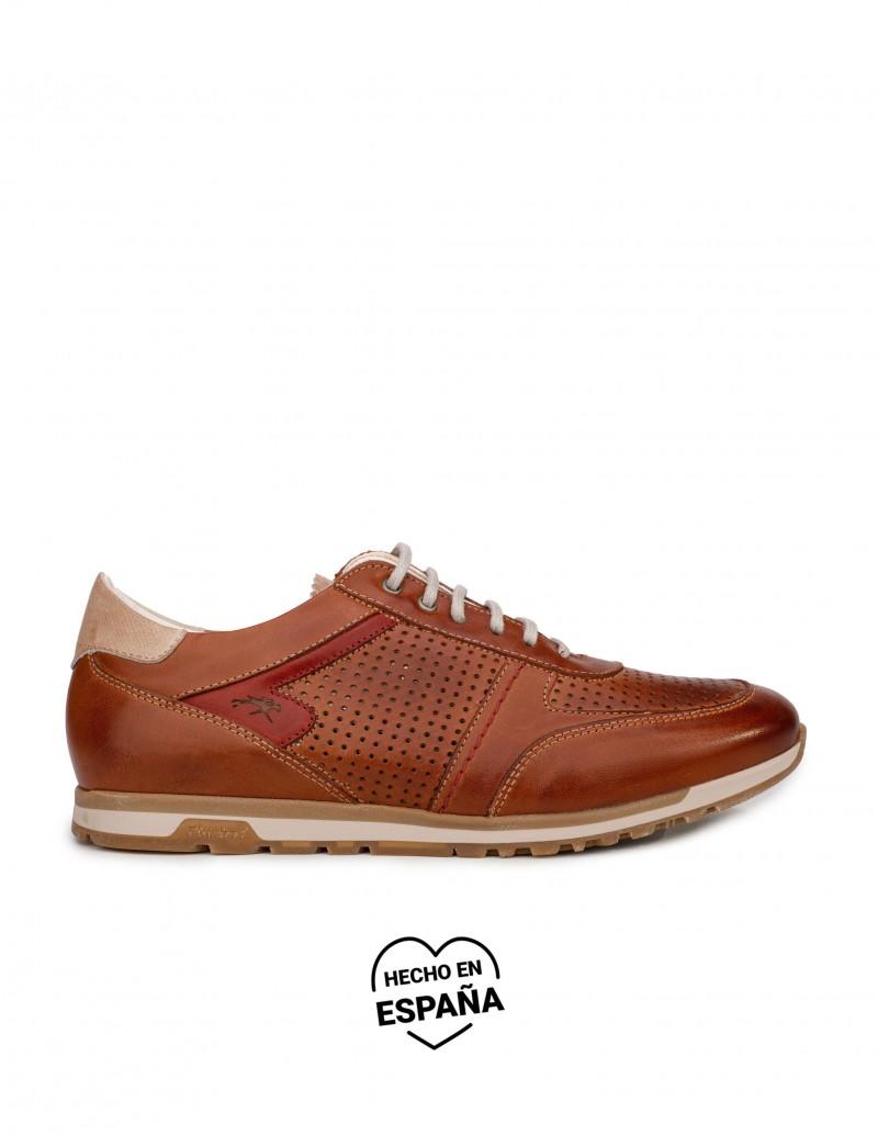 FLUCHOS Zapatos Sport Picados Cuero