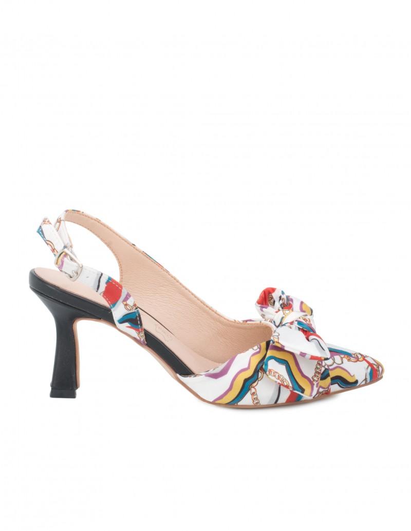 Zapatos Salón Estampado Pañuelo