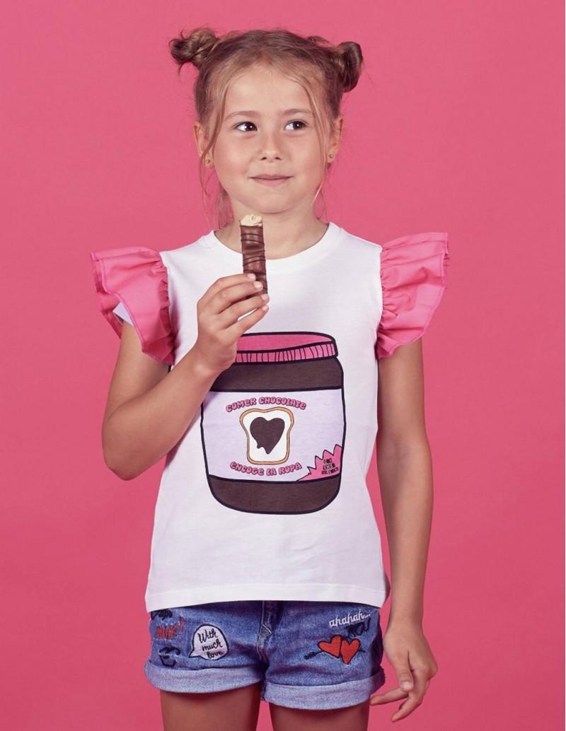 Camiseta Mini Yo Mensaje Chocolate PERA LIMONERA
