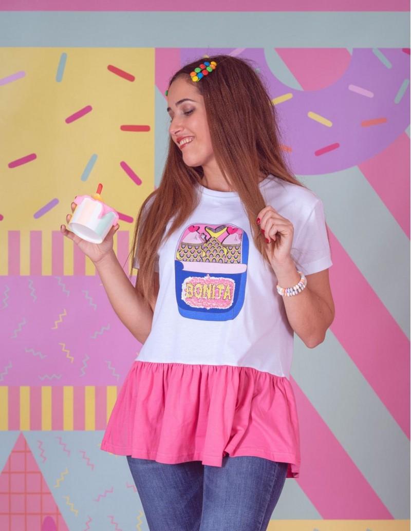 Camiseta Bonita Lentejuelas PERA LIMONERA