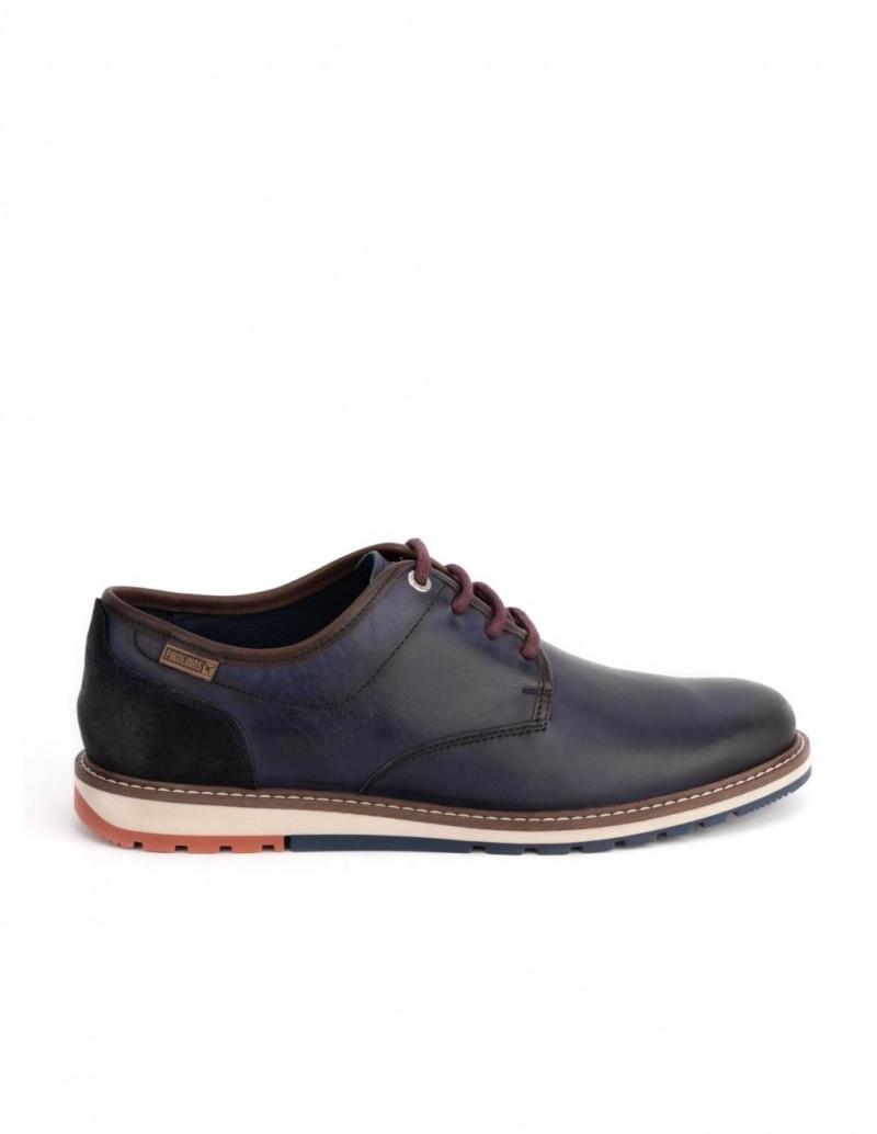 PIKOLINOS Zapatos Cordones Suela Tricolor Marino