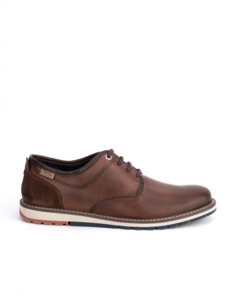 PIKOLINOS Zapatos Cordones Suela Tricolor Marron