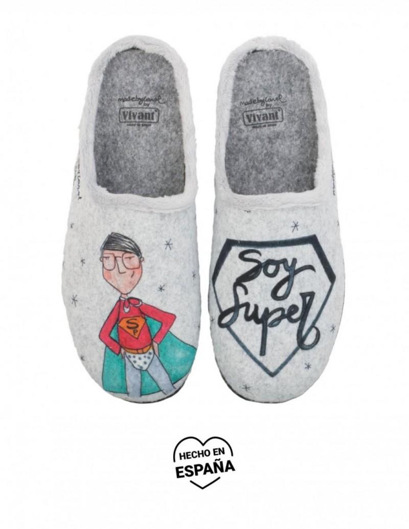 Zapatillas Casa Mensaje Soy Super