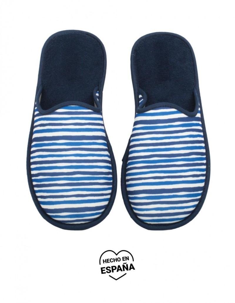 Zapatillas Casa Rayas Azul Marino