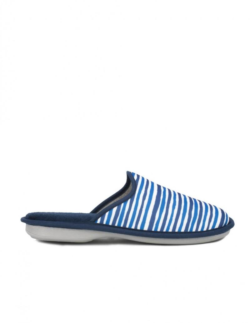 Zapatillas Casa Hombre Rayas Azules