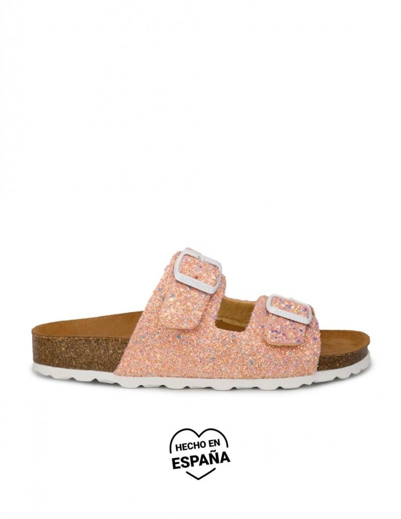 AUTENTI Sandalias Bio Glitter Coral