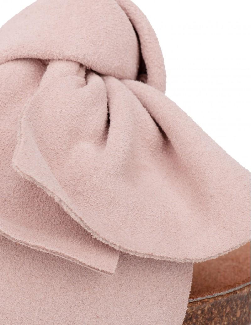 Sandalias Lazo Rosa Mujer