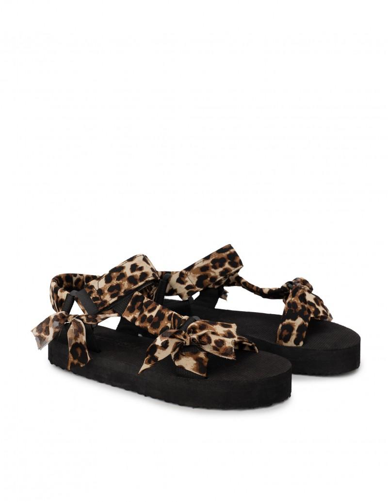 Sandalias Velcro Print Leopardo