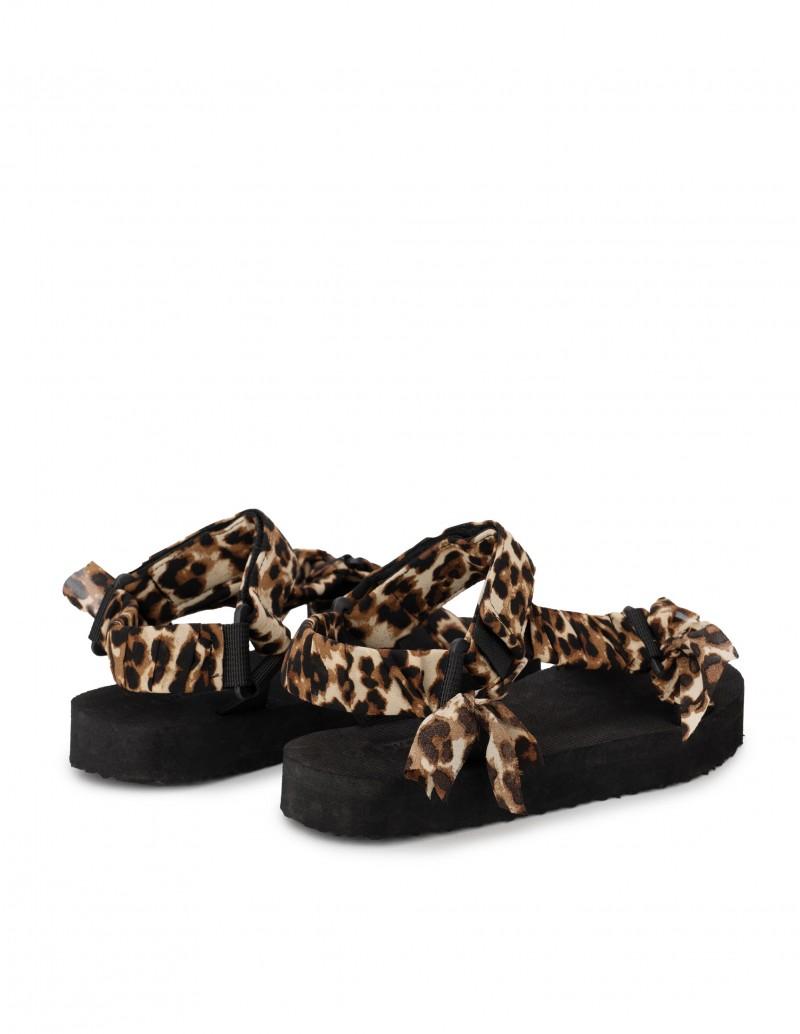 Sandalias Leopardo Tiras Velcro