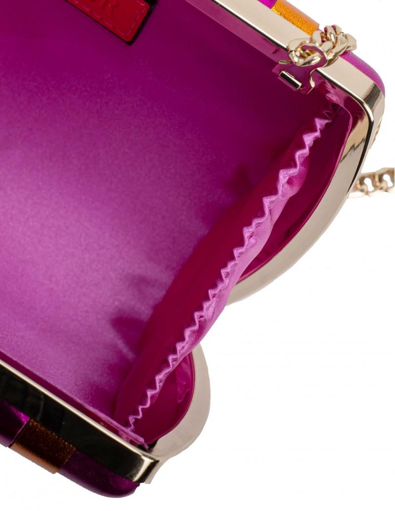 Bolso Clutch Metalizado Multicolor - interior