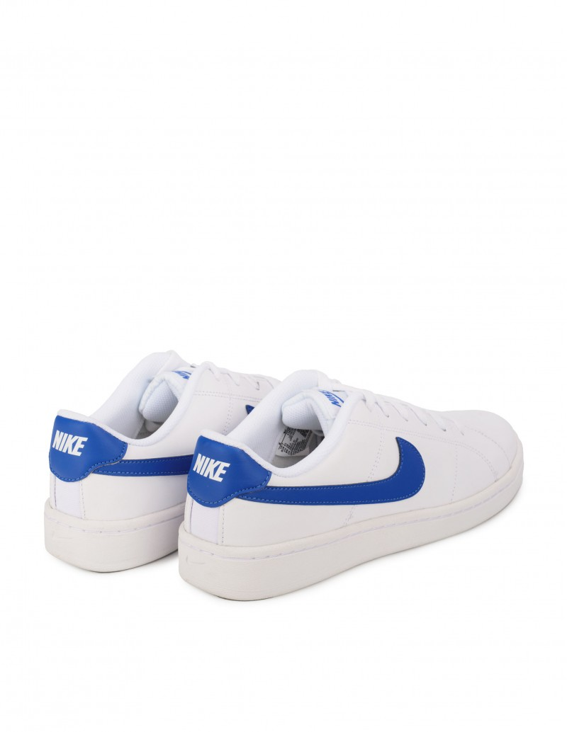 Zapatillas Nike Hombre Blancas Logo Azulón