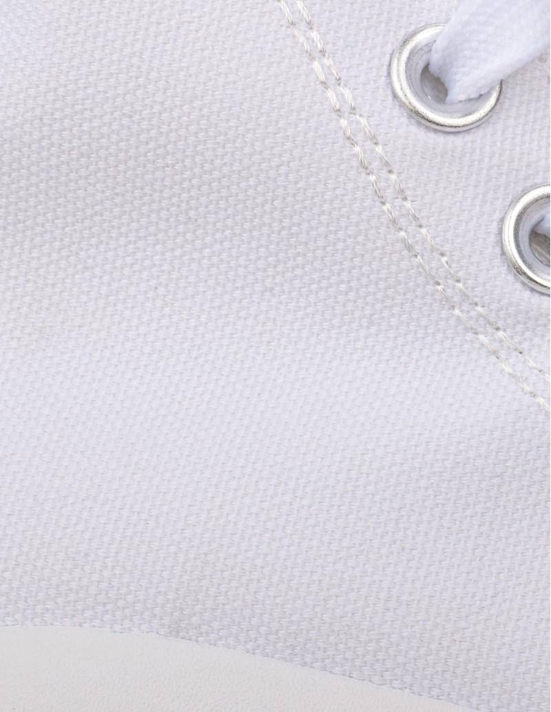 Zapatillas Blancas Plataforma detalle