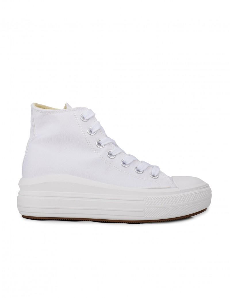 Zapatillas Altas Plataforma Blancas