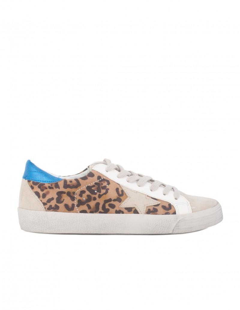 Zapatillas Estrella Leopardo