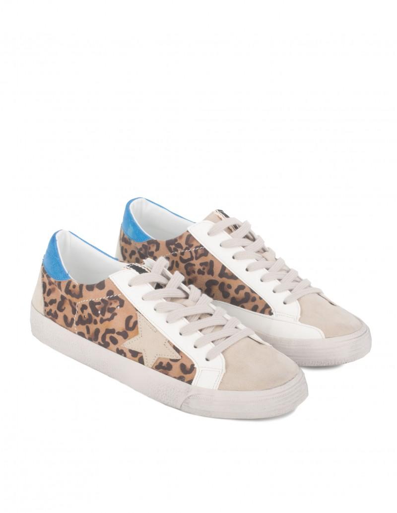 Zapatillas Estrella Print Leopardo