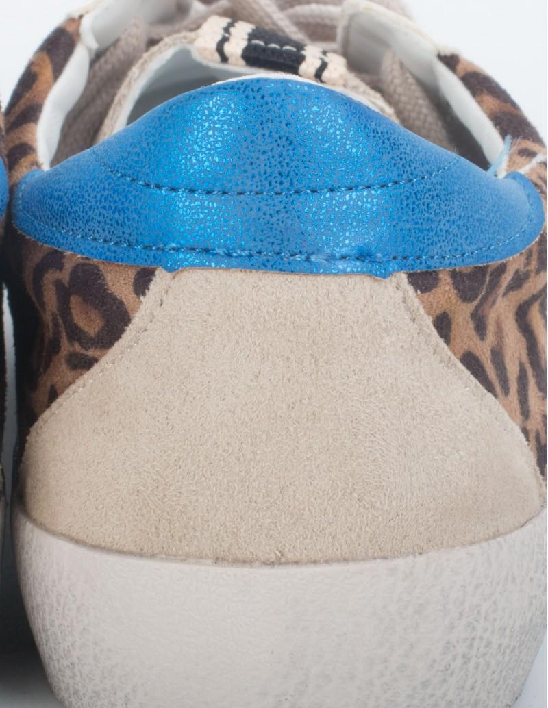 Zapatillas Estrella Leopardo detalle
