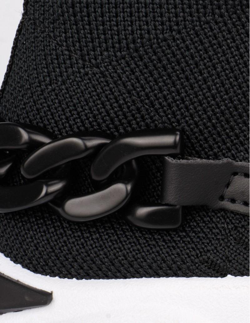 Zapatillas Calcetín Negro detalle cadena