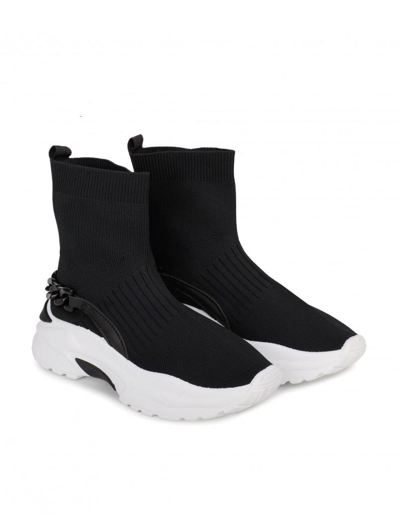 Zapatillas Calcetín Negras Mujer