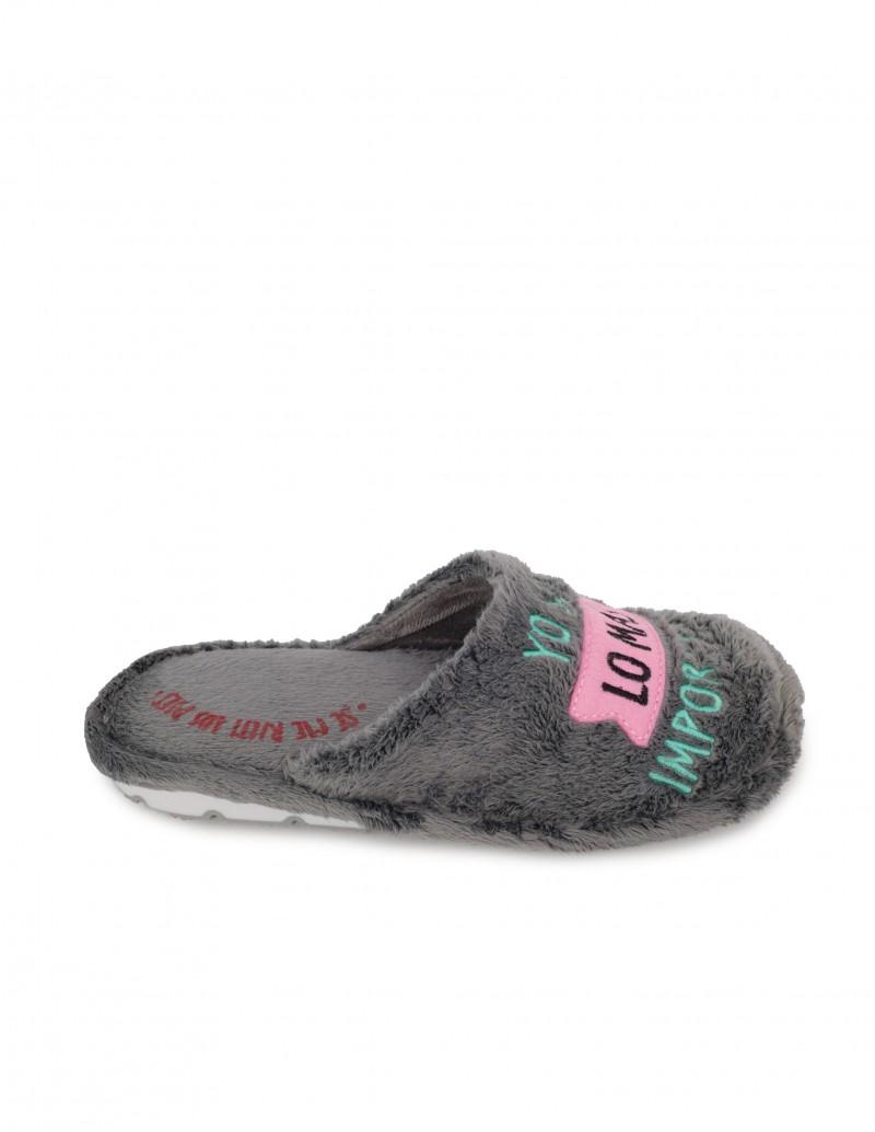 Zapatillas Casa Mujer con Mensaje