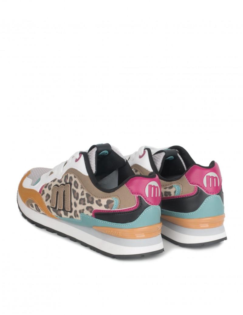 Zapatillas Estampado Leopardo Mujer