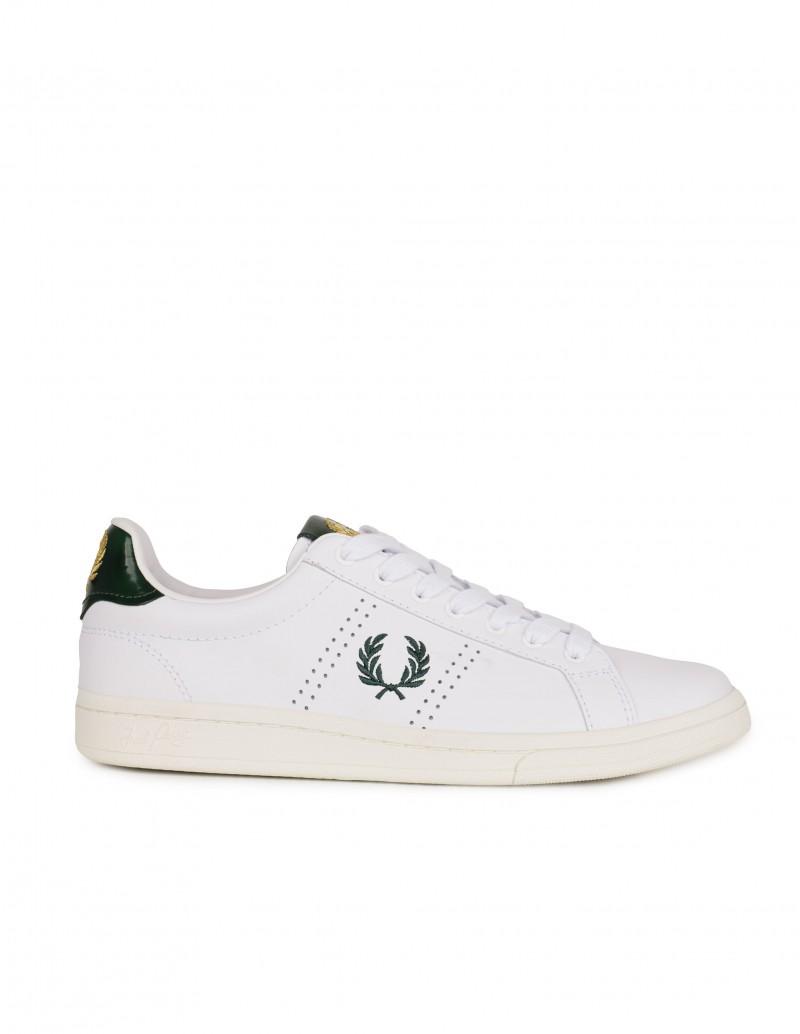 FRED PERRY Zapatillas Blancas Trasera Verde