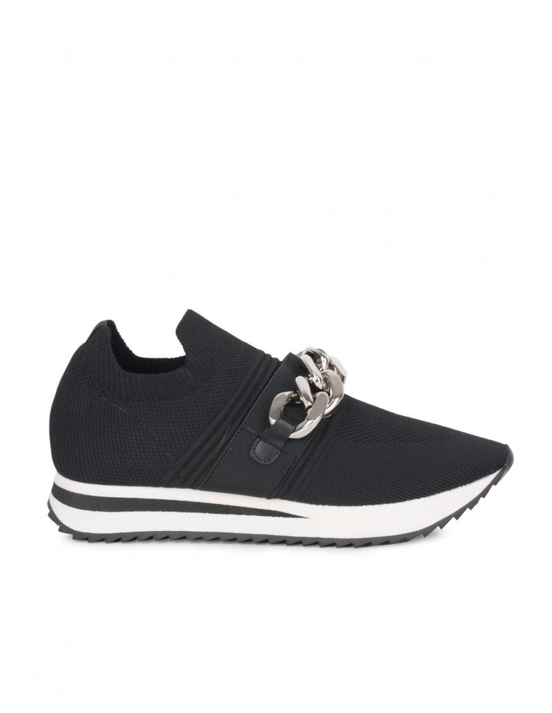 Zapatillas Calcetín Cadena Negras