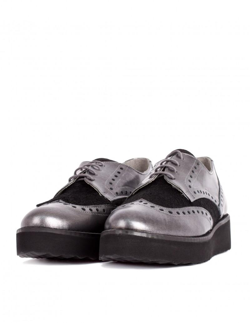 Zapato Salonissimos detalle piel de potro