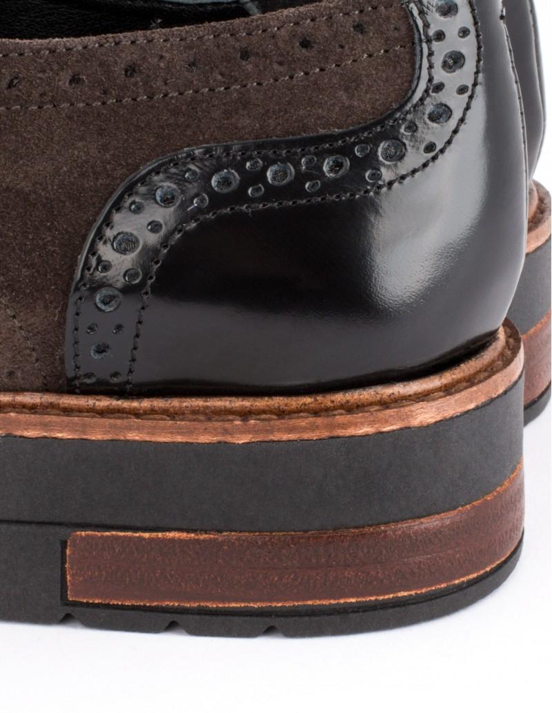 Zapato Natalia Blanco detalle madera