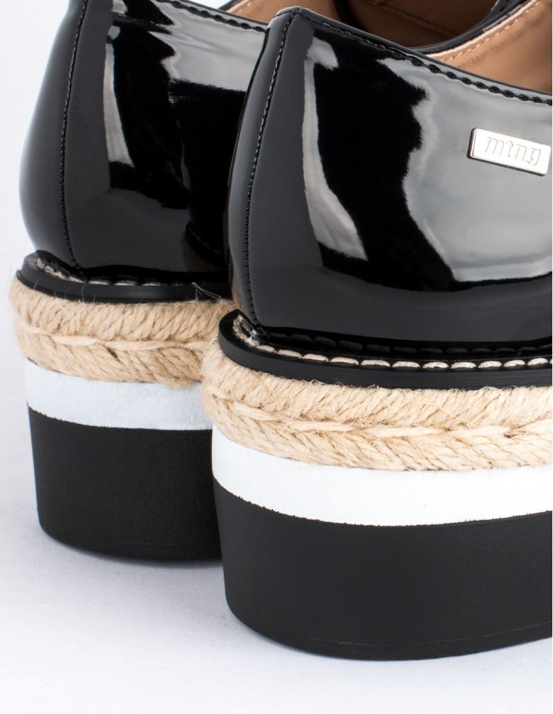 Mustang zapatos plataforma charol negro