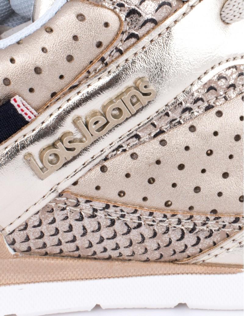 Lois zapatillas doradas mujer