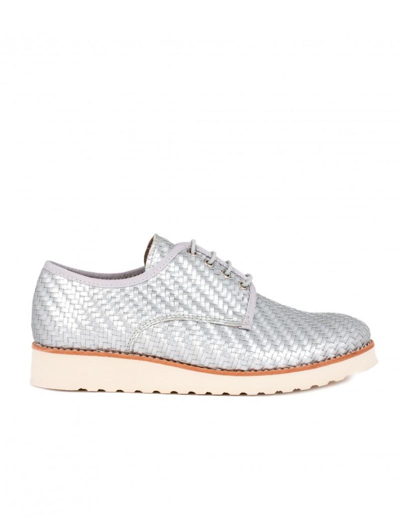 Nature zapato trenzado plata