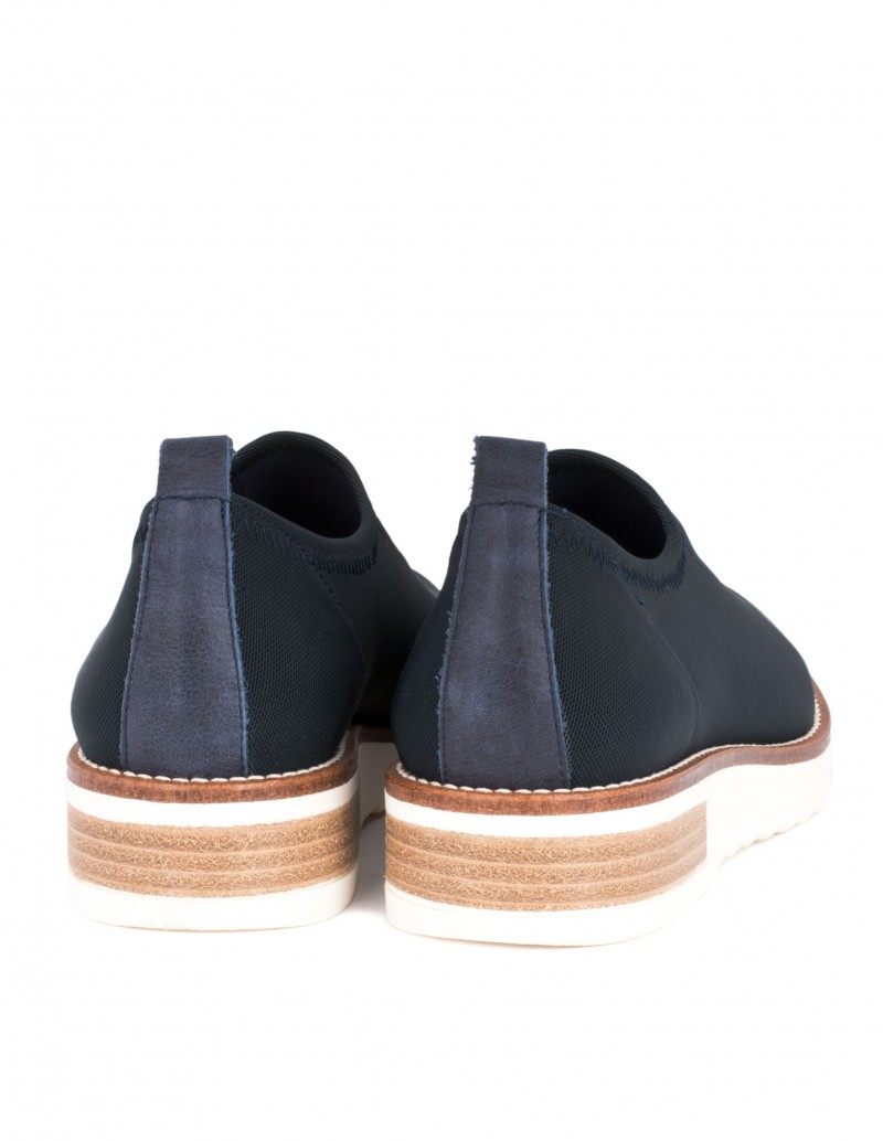 Zapato barminton tela azul marino