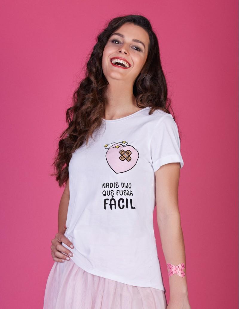 Camiseta chica con mensaje