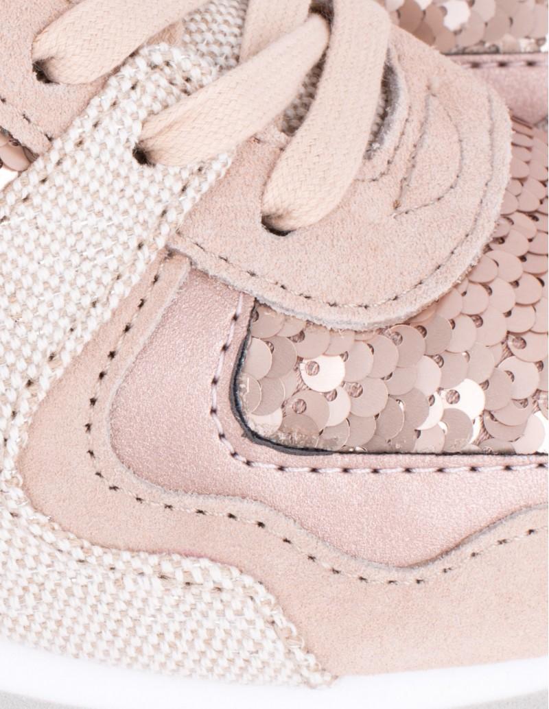 sneakers rosa lentejuelas cobre