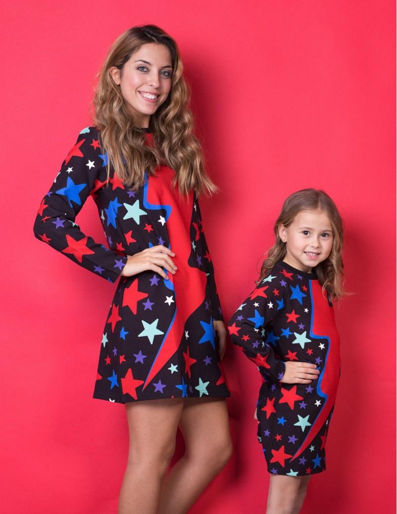 vestido igual madre e hija Rayo Rojo