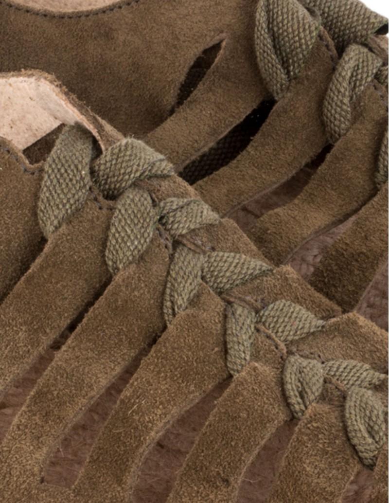 sandalias planas esparto kaki