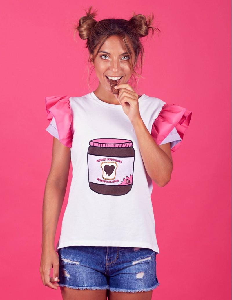 2432ba7d046 Camiseta Mamá e Hija Mensaje Chocolate - PERA LIMONERA