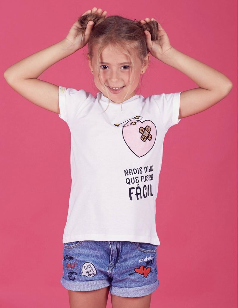 camiseta niña con mensaje mini yo