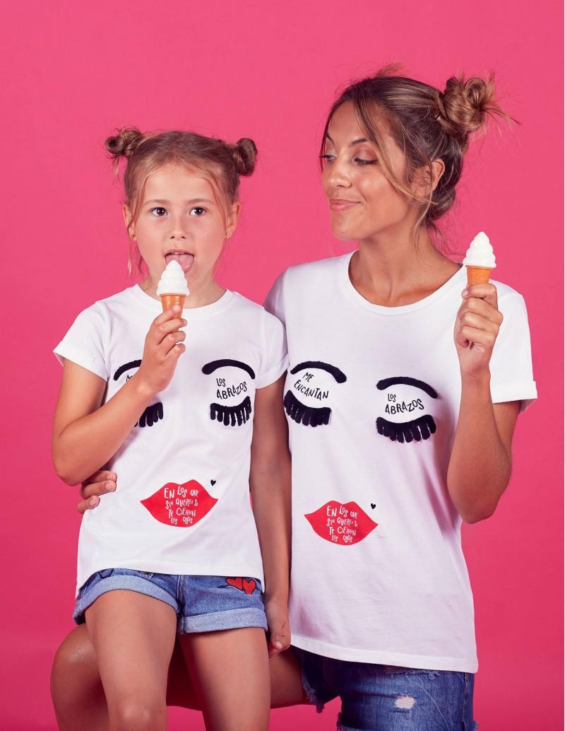 camiseta yo y mini yo con mensaje