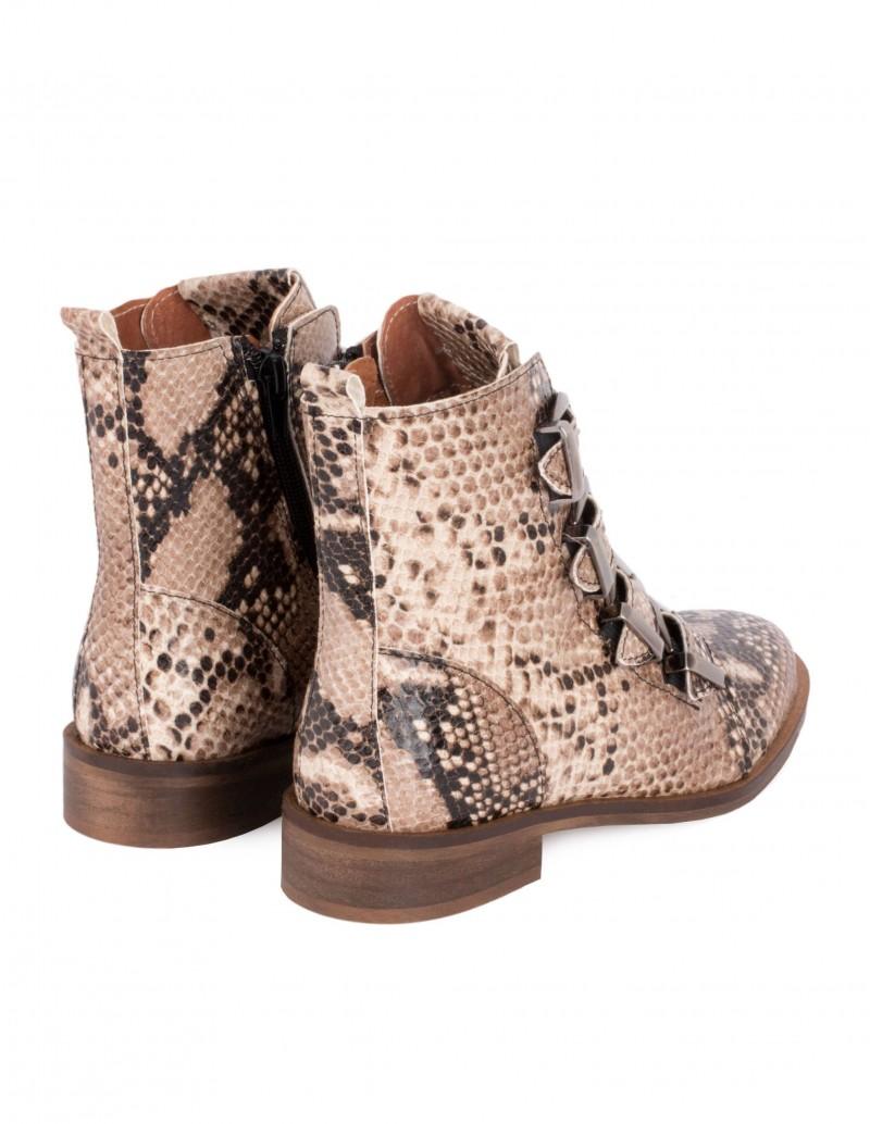 zapatos deportivos 13ae2 d98c0 Botines Hebillas Piel Serpiente PERA LIMONERA