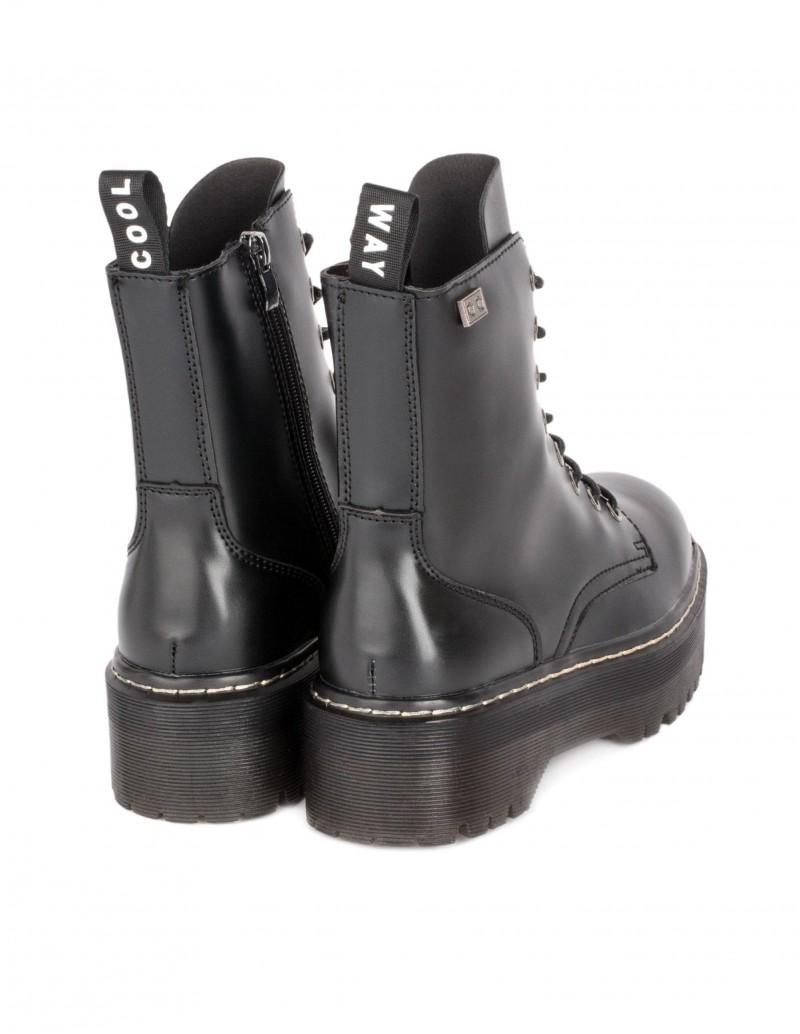 botas militares plataforma negras