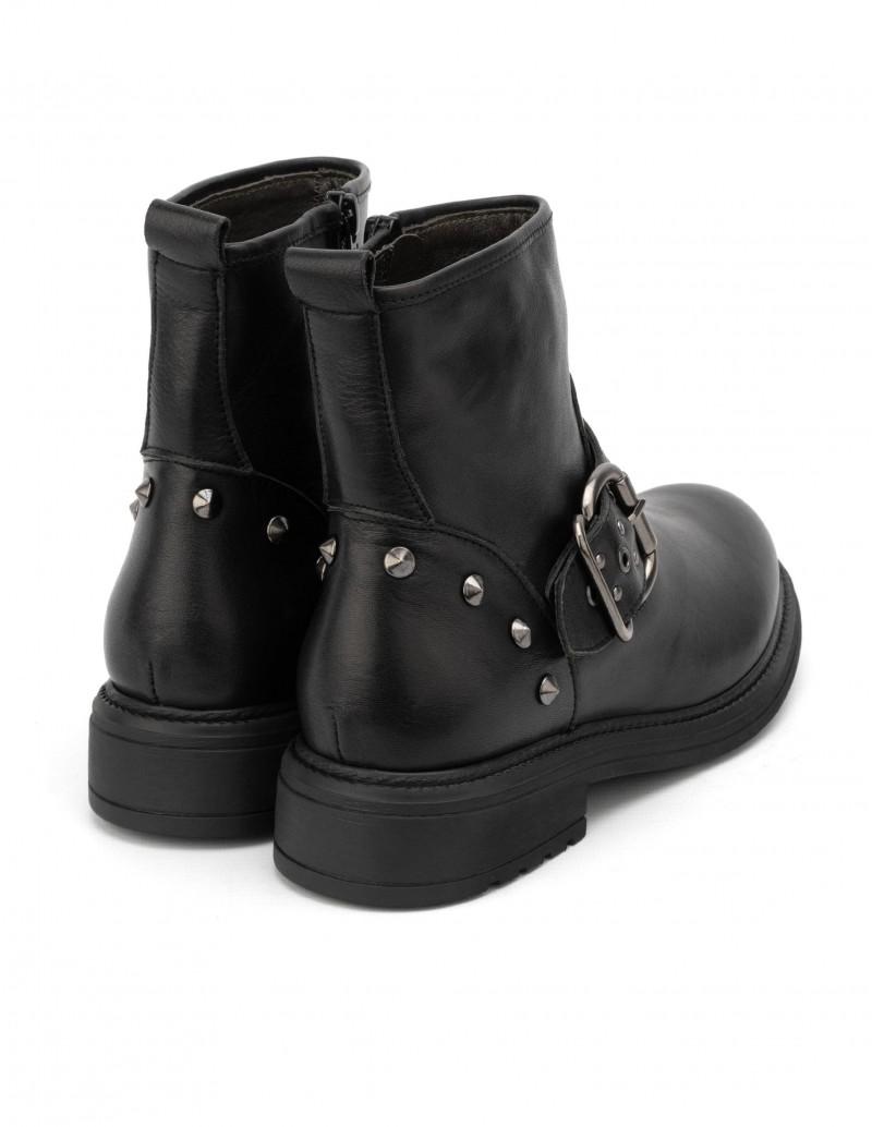 botas moteras tachuelas mujer