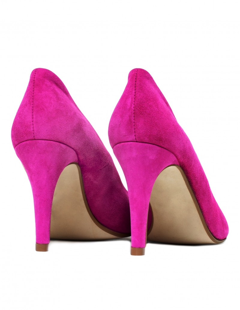Zapatos salon rosa fucsia