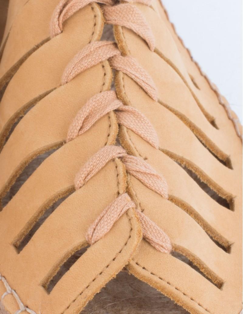 sandalias esparto cordones planas